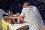Mara leest de krant 060712