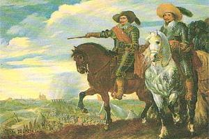 Frederik Hendrik en Ernst Casimir door Pauwels van Hillegaert