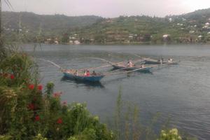 Foto vissers in Gysengi