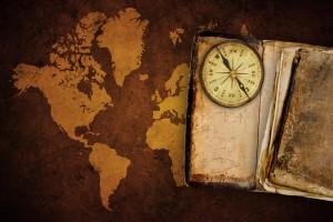 landkaart en compas